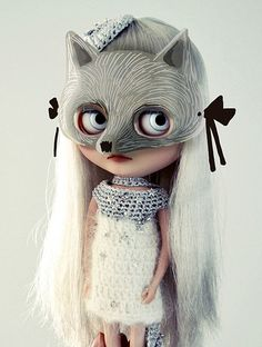 Motet the silver wolf by patateofeu (looking for a secretdoll person 08), via Flickr