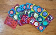 Colourful geometric postcards!