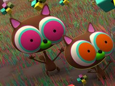 wacky racers and rubber friends by jonathan ball / pokedstudio, via Behance