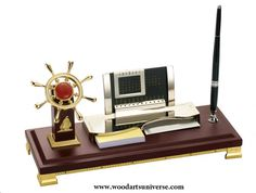 upto 65% off Nautical Desk Organizer with Ship Wheel and Calendar WASCBJLG15600  #SALE #FREESHIPPING http://woodartsuniverse.com/catalog/product_info.php?products_id=444
