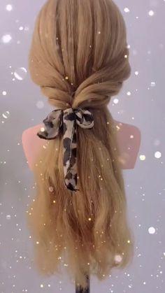 Hairdo For Long Hair, Easy Hairstyles For Long Hair, Braided Hairstyles, Medium Hair Styles, Curly Hair Styles, Hair Upstyles, Hair Videos, Hair Designs, Hair Hacks