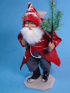 inch Paper mache *Walking German Santa* candy container by Paul Turner studio Candy Containers, Antique Christmas, Christmas Things, Vintage Santas, Dear Santa, Christmas Traditions, Paper Mache, Old World, Celebrations
