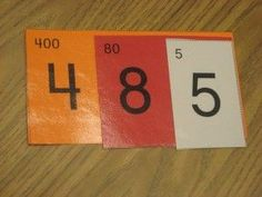 Singapore Math - Place Value Cards Place Value Cards, Math Place Value, Teaching Place Values, Teaching Math, Math Resources, Math Activities, Therapy Activities, Singapore Math, Math School