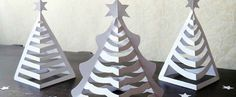 Easy Christmas Craft: Hattifant's 3D Paper Christmas Trees