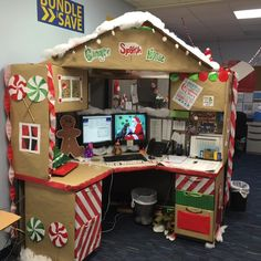 Work Desk Decorations Gingerbread Christmas Cubicle