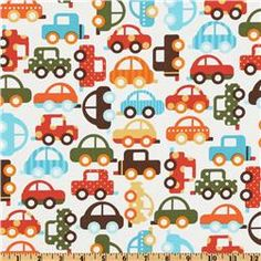 Ready Set Go Organic Bermuda Traffic fabric...this would make a darling little drawstring bag for James to haul around his stash of cars + trains  :)