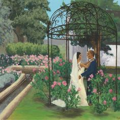 Live wedding painting process with Mary Paints Weddings Floral Wedding, Wedding Day, Wedding Painting, Painting Process, Custom Paint, Vows, Wedding Details, Love Story, Behind The Scenes