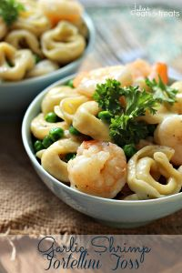 Garlic Shrimp Tortellini Toss ~ Amazing Meal Ready on the table in 20 Minutes! Loaded with Peas, Cheese Tortellini & Shrimp! on MyRecipeMagic.com