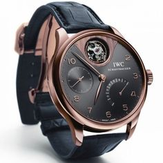 Rose Gold :: IWC Portuguese Tourbillon Retrograde Mystery