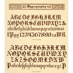 Type Charts 15 Engravers Old English Front