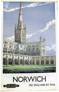 Norwich Cathedral in Norfolk - it's a poster, but it really conveys the grandeur of this remote but incredible cathedral.
