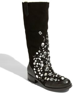 Beverly Feldman Black Glam Rock Boot