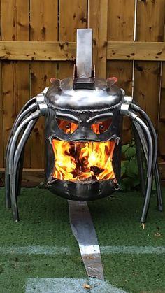 Predator fire pit fire box by CalgaryCreativeWork on Etsy