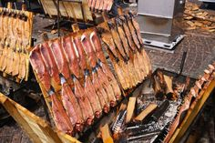 smoked fish at a Lapp fair, Helsinki