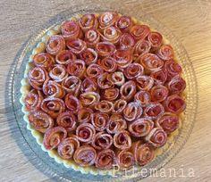 Rózsás almás pite Vegetables, Desserts, Food, Tailgate Desserts, Deserts, Essen, Vegetable Recipes, Postres, Meals