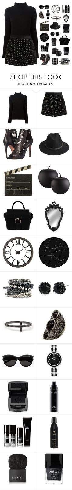 """All Black"" by boxthoughts ❤ liked on Polyvore featuring Helmut Lang, Topshop, Rebecca Minkoff, BeckSöndergaard, Ballard Designs, CB2, H&M, Betsey Johnson, Yves Saint Laurent and Fendi"