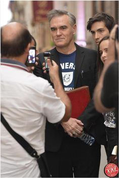 Morrissey in Rome. Absolutely #handsomeMorrissey.