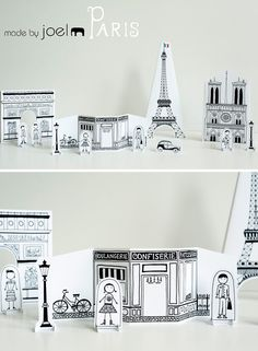 Printable - Paris Paper City  -  So cute!!  (The Eiffel Tower printable is awesome!)