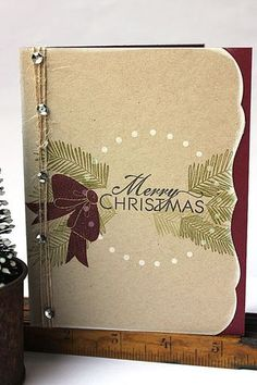 Bells & Boughs Revisited - Merry Christmas Card by Heather Nichols for Papertrey Ink (December 2013)
