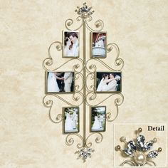 Giselle Pearl and Gem Photo Frame Wall Accent