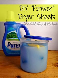 These DIY dryer sheets go in the success column! My clothes came out of the dryer smelling fresh, feeling soft and without that annoying static cling I hate so…