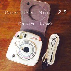 Mini 25 fuji instax & white case leather.