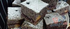 Makové kostky s višňovým krémem Cheesecake, Desserts, Food, Tailgate Desserts, Deserts, Cheesecakes, Essen, Postres, Meals