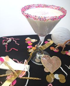 Birthday Cake Batter Martini by Susannah of Feast + West // Twin Stripe