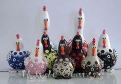 Tays Rocha: Galinhas, vaquinhas e fruteiras de cabaça #gourds #cabaças…