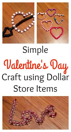 Looking for a simple Valentine's Day craft? This is so simple and costs almost nothing. It's a simple way to craft with kids.