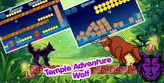 awesome Temple Adventure Wolf - Eclipse &amp BuildBox two projects - ADMOB-Share and evaluation buttons (Games)