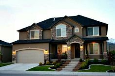 Beautiful homes - House Designs Exterior Dream Home Design, My Dream Home, Dream Homes, Dream Big, Style At Home, American Houses, Dream House Exterior, House Ideas Exterior, Home Pictures