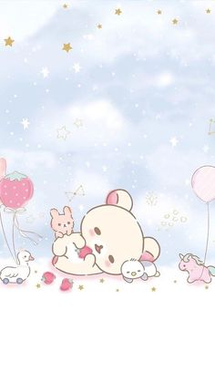 The picture was discovered by ป่าน แก้ว. In We Heart It . We Heart It& kend… The picture was discovered by ป่าน แก้ว. Explore (and save) your own images and videos in We Heart It! Wallpaper Kawaii, Cute Pastel Wallpaper, Sanrio Wallpaper, Soft Wallpaper, Wallpaper Iphone Cute, Chat Kawaii, Kawaii Art, Kawaii Drawings, Cute Drawings