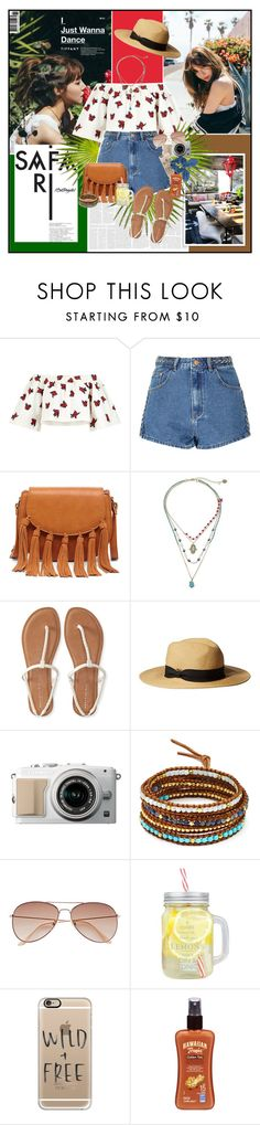"""""""Can't Stop the Feeling!"""" by summervintage ❤ liked on Polyvore featuring House of Holland, Glamorous, Sole Society, Betsey Johnson, Aéropostale, Chan Luu, H&M, Casetify, Hawaiian Tropic and Dorothy Perkins"""