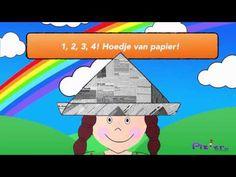 Hoedje van papier - Plzier   Kinderliedjes - YouTube