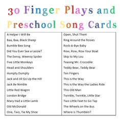Finger Plays and Preschool Songs - Heather Haupt