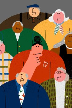 Do Older People Have a Different Smell? Even scientists who study scent are divided. People Illustration, Flat Illustration, Character Illustration, Graphic Design Illustration, Pretty Drawings, Art Inspo, Character Design, Artsy, Cartoon