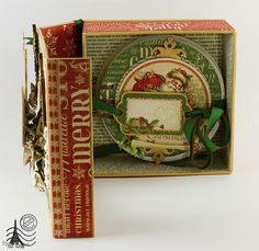 ´Twas the Night Before Christmas and Graphic 45 new mixed Media Boxes, in Love!!!