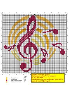 Musique Cross Stitch Music, Cross Stitch Boards, Mini Cross Stitch, Cross Stitch Alphabet, Cross Stitch Flowers, Cross Stitching, Cross Stitch Embroidery, Cross Stitch Patterns, Needlepoint Patterns