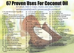 67 Proven Uses for Coconut Oil https://modernegeitenwollensokkenmama.wordpress.com/