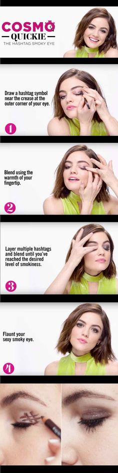 Best Beauty Hacks Ever Created - Hashtag Liner Trick - Tips And Tricks For Skin Care, Make Up, Style, And Products Every Girl Should Try At Least Once In Life. Easy, Cute, Step By Step Tutorials - http://thegoddess.com/best-beauty-hacks-ever
