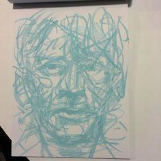 Blue on a Saturday night. #artist #draw #drawing #pastel #portrait