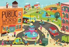 National Public Works Week Poster by Jannie Ho, via Behance