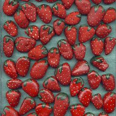 Painted Stones strawberries