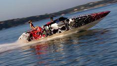 SpeedWrappin' or Wrap Speedin? #Boatwrap by WakeGraphics
