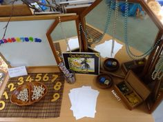 "Activities linked with pirates for the Early Years classroom - from Rachel ("",) Pirate Maps, Pirate Theme, Fun Math, Activities For Kids, Early Years Classroom, Mirror Box, Treasure Maps, Preschool At Home, Card Patterns"