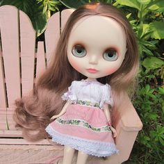 Mountain Heather Blythe Doll Folk Dress Outfit | Brown Eyed Rose