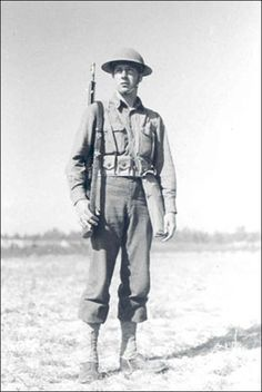 This is how the American soldier, [#39/45] Regular and Guardsman, was dressed and equipped at the time of the 1940 mobilization for World War II.