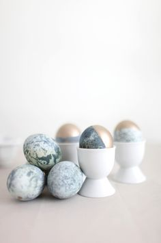 Gold-Dipped Marble Eggs