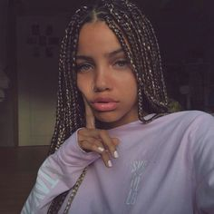 Braids With Bead Embellishments - 40 Best Big Box Braids Hairstyles Blonde Box Braids, Short Box Braids, Black Girl Braids, Girls Braids, Blonde Hair, Box Braids Hairstyles, Girl Hairstyles, Hairstyles Videos, Updo Hairstyle
